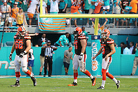 Cleveland Browns  Kicker  Cody Parkey misses last minute field goal for Cleveland,on the 25th September 2016 at  the Hard Rock Stadium Miami Florida