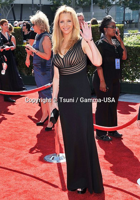 Lisa Kudrow  at 2012 PrimeTime Creative Arts Emmy Awards At the Nokia Theatre In Los Angeles.