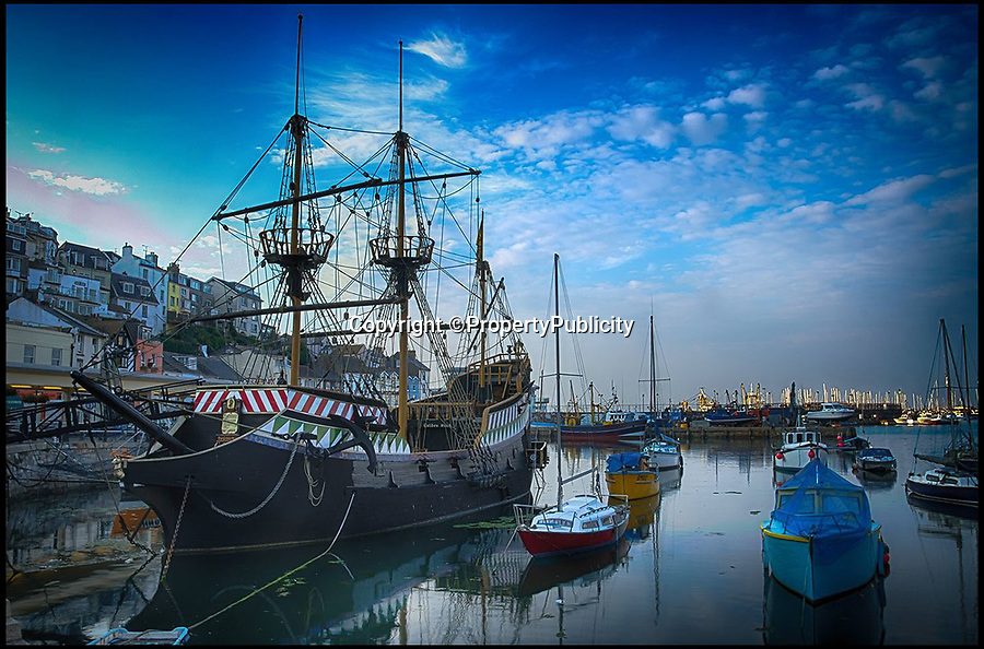 BNPS.co.uk (01202) 558833Pic: PropertyPublicity/BNPS<br /> <br /> The 120ft replica of The Golden Hind is up for sale for £195,000...<br /> <br /> A full-size replica of Sir Francis Drake's famed Elizabethan galleon the Golden Hind has emerged for sale for £195,000.<br /> <br /> The 120ft wooden ship is an exact remake of the flagship which Drake sailed round the world from 1577 to 1580, the first Englishman ever to circumnavigate the globe.<br /> <br /> The boat, which was built in 1988, is the second of two replica Golden Hinds which have taken pride of place in Brixham, Devon, since the 1954.<br /> <br /> The current owner, Neil Worrell, 58, bought the boat four years ago with his wife, who has since passed away.<br /> <br /> During their ownership the pair did a lot of renovation to the museum boat, including replacing the crows nests and gangplanks, painting it and generally updating the whole facility.