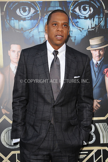 WWW.ACEPIXS.COM . . . . . .May 1, 2013...New York City...Jay Z attends the 'The Great Gatsby' world premiere at Avery Fisher Hall at Lincoln Center for the Performing Arts on May 1, 2013 in New York City ....Please byline: KRISTIN CALLAHAN - ACEPIXS.COM.. . . . . . ..Ace Pictures, Inc: ..tel: (212) 243 8787 or (646) 769 0430..e-mail: info@acepixs.com..web: http://www.acepixs.com .