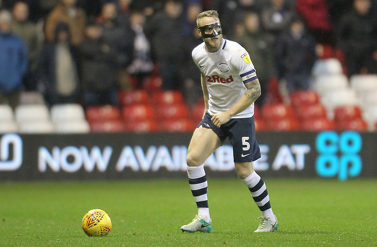 Preston North End's Tom Clarke<br /> <br /> Photographer Mick Walker/CameraSport<br /> <br /> The EFL Sky Bet Championship - Nottingham Forest v Preston North End - Saturday 8th December 2018 - The City Ground - Nottingham<br /> <br /> World Copyright © 2018 CameraSport. All rights reserved. 43 Linden Ave. Countesthorpe. Leicester. England. LE8 5PG - Tel: +44 (0) 116 277 4147 - admin@camerasport.com - www.camerasport.com