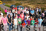Faces in the crowd!:People taking Part in The Historical walk in Dromid on Good Friday..