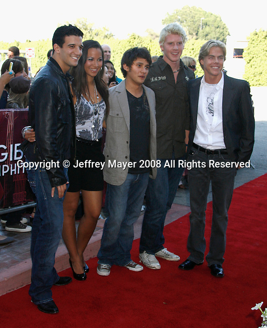 UNIVERSAL CITY, CA. - September 14: Musicians Almost Amy  arrives at The City of Hope Benefit Concert at Gibson Amphitheater on September 14, 2008 in Universal City, California.