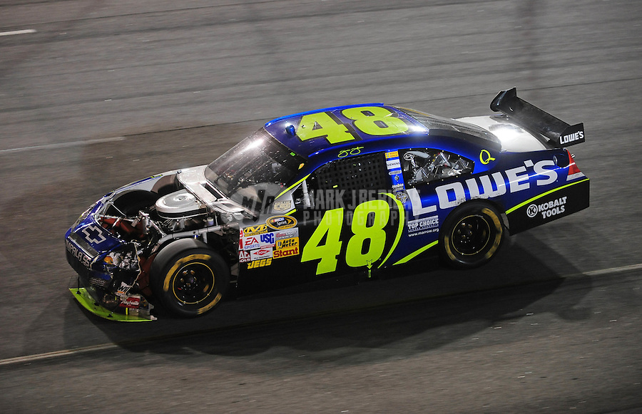 May 3, 2008; Richmond, VA, USA; NASCAR Sprint Cup Series driver Jimmie Johnson during the Dan Lowry 400 at the Richmond International Raceway. Mandatory Credit: Mark J. Rebilas-US PRESSWIRE