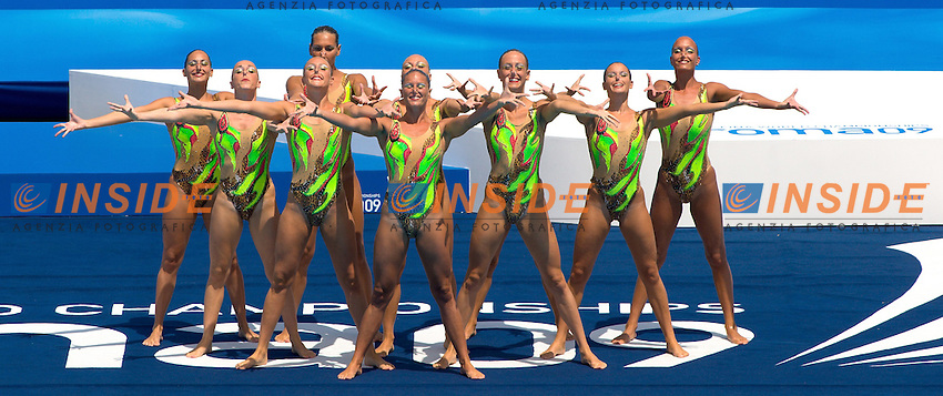 Roma 22nd July 2009 - 13th Fina World Championships From 17th to 2nd August 2009.Free Combination .Italy.photo: Roma2009.com/InsideFoto/SeaSee.com