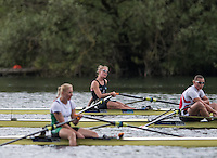 Lucerne, SWITZERLAND<br /> <br /> NZL W1X, Winner Emma TWIGG, with the IRL W1X and DENW1X Co Qailifiers, at the 2016 European Olympic Qualifying Regatta, Lake Rotsee.<br /> <br /> Tuesday  24/05/2016<br /> <br /> [Mandatory Credit; Peter SPURRIER/Intersport-images]
