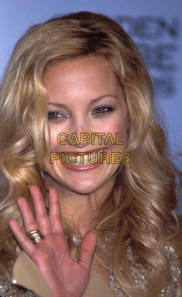 KATE HUDSON.Golden Globe Awards 2002.Ref: 11372.curls, waving, portrait headshot.sales@capitalpictures.com.www.capitalpictures.com.©Capital Pictures