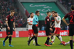 30.11.2019, RheinEnergieStadion, Koeln, GER, 1. FBL, 1.FC Koeln vs. FC Augsburg,<br />  <br /> DFL regulations prohibit any use of photographs as image sequences and/or quasi-video<br /> <br /> im Bild / picture shows: <br /> rote Karte für André Hahn (FC Augsburg #28),  <br /> <br /> Foto © nordphoto / Meuter