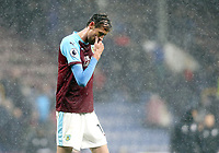 Burnley's Peter Crouch looks dejected at the final whistle <br /> <br /> Photographer Rich Linley/CameraSport<br /> <br /> The Premier League - Burnley v Leicester City - Saturday 16th March 2019 - Turf Moor - Burnley<br /> <br /> World Copyright © 2019 CameraSport. All rights reserved. 43 Linden Ave. Countesthorpe. Leicester. England. LE8 5PG - Tel: +44 (0) 116 277 4147 - admin@camerasport.com - www.camerasport.com
