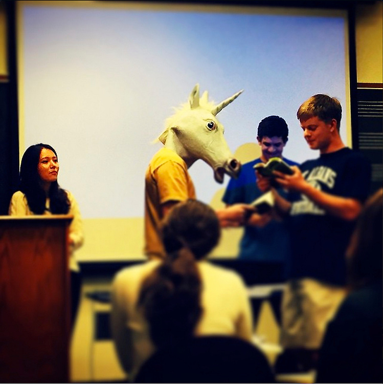 the students of my freshman seminar present A Midsummer Night's Dream<br /> Photo by IDM (Imani Mosley)<br /> #duke360