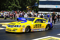 Jun. 2, 2012; Englishtown, NJ, USA: NHRA pro stock driver Jeg Coughlin during qualifying for the Supernationals at Raceway Park. Mandatory Credit: Mark J. Rebilas-