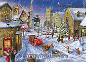 Marcello, CHRISTMAS LANDSCAPES, WEIHNACHTEN WINTERLANDSCHAFTEN, NAVIDAD PAISAJES DE INVIERNO, paintings+++++,ITMCXM2000,#XL# ,puzzle ,marketplace