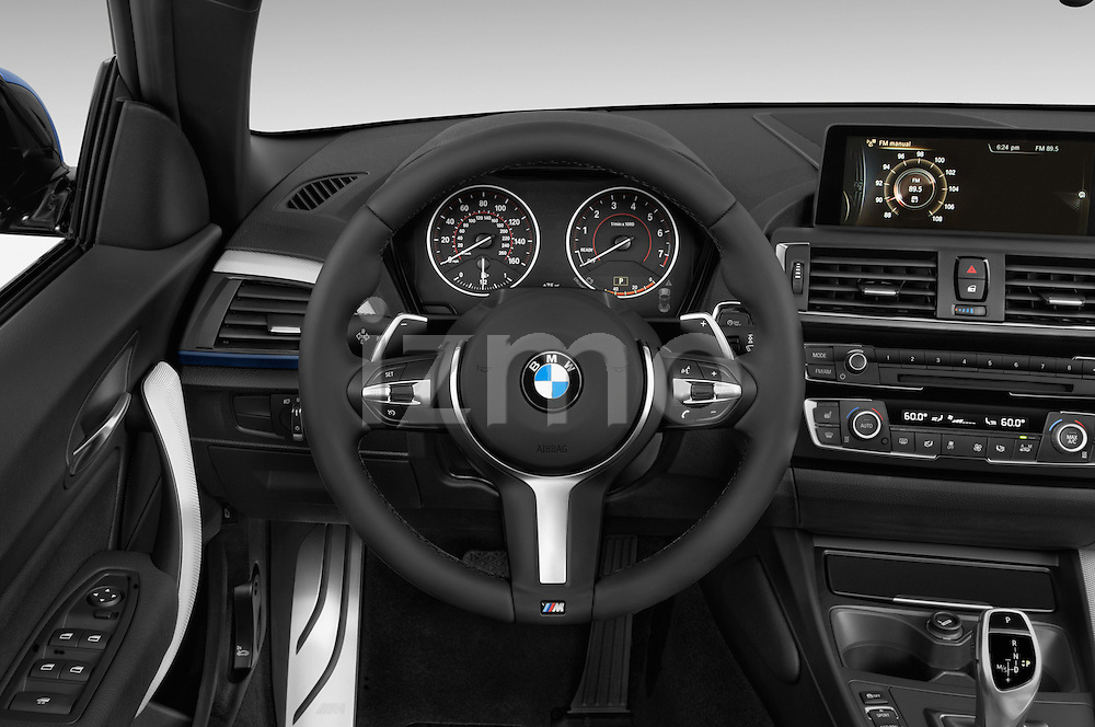 Car pictures of steering wheel view of a 2015 BMW 2 Series 228i 2 Door Convertible Steering Wheel
