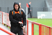 Blackpool's Steve Davies arrives<br /> <br /> Photographer Kevin Barnes/CameraSport<br /> <br /> Emirates FA Cup First Round - Exeter City v Blackpool - Saturday 10th November 2018 - St James Park - Exeter<br />  <br /> World Copyright © 2018 CameraSport. All rights reserved. 43 Linden Ave. Countesthorpe. Leicester. England. LE8 5PG - Tel: +44 (0) 116 277 4147 - admin@camerasport.com - www.camerasport.com