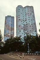 Paris: Tours Aillaud, housing on outskirts of La Defense. Photo '90.