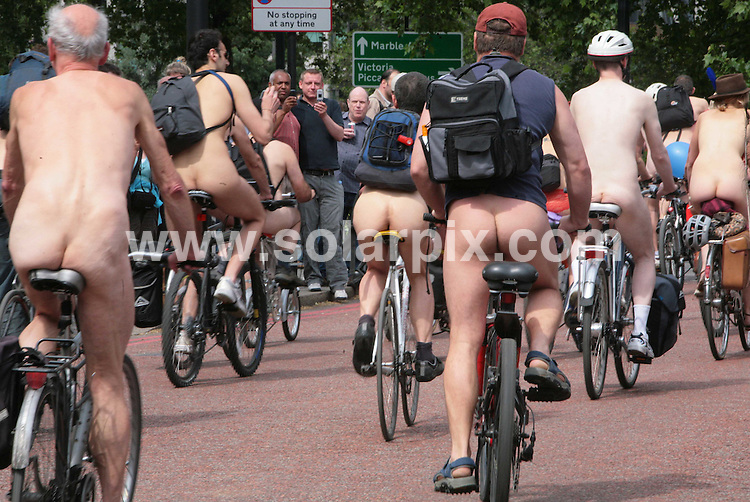 **ALL ROUND PICTURES FROM SOLARPIX.COM**.**NO UK NEWSPAPER PUBLICATION **UK MAGAZINE & SUPPLEMENT PUBLICATION ONLY** AND NO PUBLICATION IN FRANCE, SCANDINAVIA, AUSTRALIA AND GERMANY** .A naked bike ride took place in Hyde Park , London , this afternoon..Every year, in cities around the world, people  ride naked to celebrate cycling and the human body. The ride demonstrates the vulnerability of cyclists on the road and is a protest against oil dependency..JOB REF:  6631    SFE       DATE: 14.06.08.**MUST CREDIT SOLARPIX.COM OR DOUBLE FEE WILL BE CHARGED* *UNDER NO CIRCUMSTANCES IS THIS IMAGE TO BE REPRODUCED FOR ANY ONLINE EDITION WITHOUT PRIOR PERMISSION*