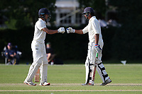 Kishen Velani (R) and Robin Das of Wanstead during Brentwood CC vs Wanstead and Snaresbrook CC, Essex Cricket League Cricket at The Old County Ground on 12th September 2020