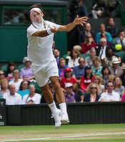 04-07-12, England, London, Tennis , Wimbledon,  Roger Federer
