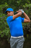 Julian Suri (USA) watches his tee shot on 14 during Round 3 of the Valero Texas Open, AT&amp;T Oaks Course, TPC San Antonio, San Antonio, Texas, USA. 4/21/2018.<br /> Picture: Golffile | Ken Murray<br /> <br /> <br /> All photo usage must carry mandatory copyright credit (&copy; Golffile | Ken Murray)