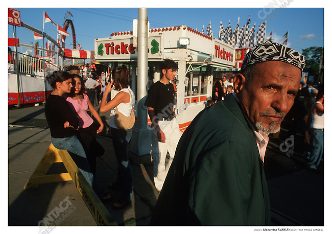 A Yemeni man at the Arab International Festival; Dearborn, Michigan, June 2002