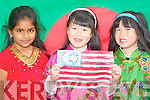 NATIVE DRESS: Wearing their Country's native dress at Scoil Eoin International Cultural Day Olympic Ceremony on Thursday l-r: Mohona Quader from Bangladesh, Maeve and Caitlin Ong from Malaysia..   Copyright Kerry's Eye 2008