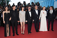 Marion Cotillard, Louis Garrel, Charlotte Gainsbourg, Hippolyte Girardot, director Arnaud Desplechin, Alba Rohrwacher &amp; Mathieu Amalric at the premiere for &quot;Ismael's Ghosts&quot; at the opening ceremony of the 70th Festival de Cannes, Cannes, France. 17 May 2017<br /> Picture: Paul Smith/Featureflash/SilverHub 0208 004 5359 sales@silverhubmedia.com
