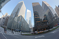 A view from Park Avenue looking toward the Citigroup Center in New York City