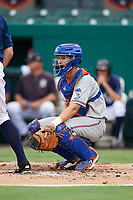 St. Lucie Mets catcher Patrick Mazeika (11) during the first game of a doubleheader against the Lakeland Flying Tigers on June 10, 2017 at Joker Marchant Stadium in Lakeland, Florida.  Lakeland defeated St. Lucie 6-5 in fourteen innings.  (Mike Janes/Four Seam Images)