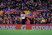 7th January 2018, Camp Nou, Barcelona, Spain; La Liga football, Barcelona versus Levante; Protest about the presos politics in Catalonia from the crowd