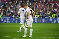 Frust bei Joshua Kimmich (Deutschland, Germany) nach dem Schlusspfiff - 16.10.2018: Frankreich vs. Deutschland, 4. Spieltag UEFA Nations League, Stade de France, DISCLAIMER: DFB regulations prohibit any use of photographs as image sequences and/or quasi-video.