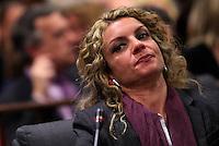 Roberta Milletari' durante l'udienza conclusiva del processo a carico del marito Raniero Busco per il delitto di Via Poma, presso la Corte d'Appello di Roma, 27 aprile 2012..UPDATE IMAGES PRESS/Riccardo De Luca