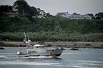Coast Guard Patrol Boat in the Coquille River, from Bullards Beach State Park, Bandon, Oregon Coast
