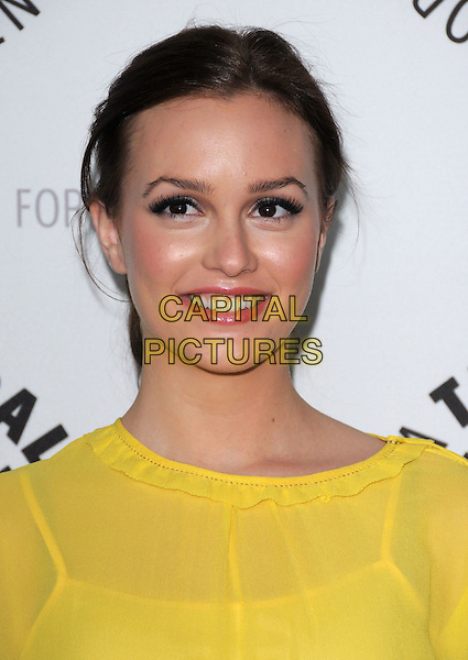 LEIGHTON MEESTER.attends The 25th Annual William S. Paley Television Festival -Gossip Girl Cast in person held at The Arclight Cinemas in Hollywood, California, USA, March 22nd 2008                                                                     .portrait headshot  yellow.CAP/DVS.©Debbie VanStory/Capital Pictures