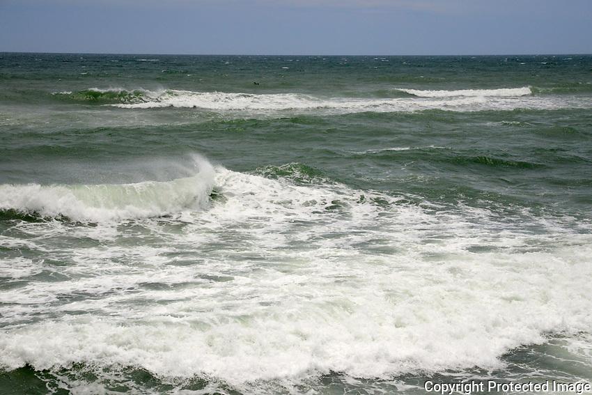 Atlantic ocean photographed during Tropical Storm Alberto at Lake Worth Beach, Lake Worth, Florida.