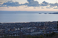 General view of Mumbles Head, Homegower House, Sandfields and Brynmill areas in Swansea, Wales, UK. Wednesday 30 January 2019