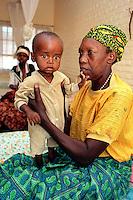 Kigali / Rwanda.<br /> Malnutrition centre for children in Kicukiro district.<br /> Photo Livio Senigalliesi