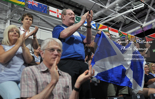 Fans. Badminton. Mixed team event. XXI Commonwealth games. Carrara Sports hall 2. Gold Coast 2018. Queensland. Australia. 05/04/2018. ~ MANDATORY CREDIT Garry Bowden/SIPPA - NO UNAUTHORISED USE - +44 7837 394578