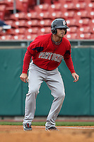 Pawtucket Red Sox third baseman Will Middlebrooks #16 during a game against the Buffalo Bisons at Coca-Cola Field on April 15, 2012 in Buffalo, New York.  Buffalo defeated Pawtucket 10-9 in ten innings.  (Mike Janes/Four Seam Images)