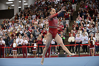 Arkansas' Kennedy Hambrick competes Friday, Feb. 7, 2020, in the floor portion of the Razorbacks' meet with Georgia in Barnhill Arena in Fayetteville. Visit  nwaonline.com/gymbacks/ for a gallery from the meet.<br /> (NWA Democrat-Gazette/Andy Shupe)