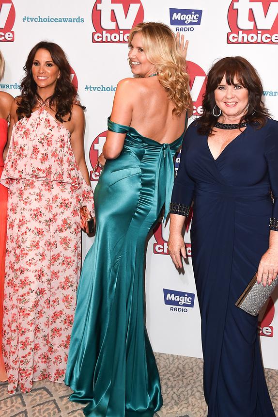 Jane Moore, Andrea Mclean, Penny Lancaster, Coleen Nolan and Saira Khan (Loose Women)<br /> arriving for the TV Choice Awards 2017 at The Dorchester Hotel, London. <br /> <br /> <br /> ©Ash Knotek  D3303  04/09/2017