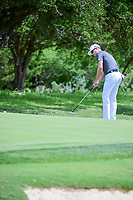 Zach Johnson (USA) watches his putt on 8 during round 1 of the Valero Texas Open, AT&amp;T Oaks Course, TPC San Antonio, San Antonio, Texas, USA. 4/20/2017.<br /> Picture: Golffile | Ken Murray<br /> <br /> <br /> All photo usage must carry mandatory copyright credit (&copy; Golffile | Ken Murray)
