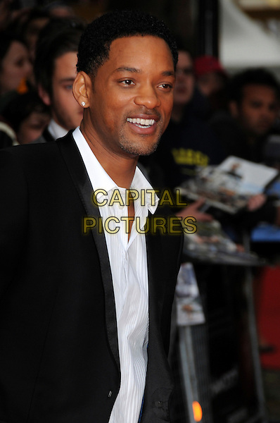 "WILL SMITH .Attending the UK Gala Premiere of ""Hancock"" held at the Vue West End, Leicester Square, London, England..June 18th 2008.half length black suit jacket white shirt .CAP/CAS.©Bob Cass/Capital Pictures."