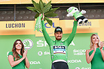 World Champion Peter Sagan (SVK) Bora-Hansgrohe retains the Green Jersey at the end of Stage 15 of the 2018 Tour de France running 218km from Carcassonne to Bagneres-de-Luchon, France. 24th July 2018. <br /> Picture: ASO/Pauline Ballet | Cyclefile<br /> All photos usage must carry mandatory copyright credit (© Cyclefile | ASO/Pauline Ballet)
