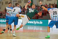 Handball, 1. Runde im DHB-Pokal 2014/ 2015: SC DHfK Leipzig vs. TV Bittenfeld 27:25 (12:11) am 20.08.2014 in der Ernst-Grube-Halle Leipzig. Im Bild: Philipp Weber (#20, Leipzig).
