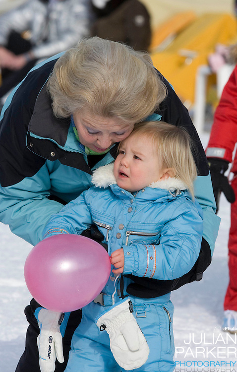 Queen Beatrix of Holland, and Princess Ariane  of Holland attend  a Photocall with Members of The Dutch Royal Family during their Winter Ski Holiday in Lech Austria