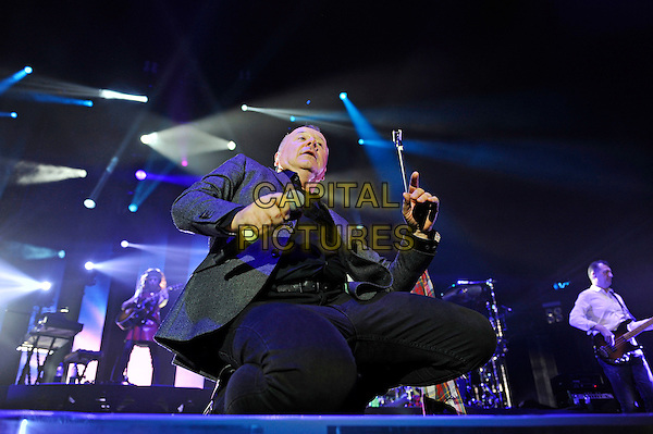 LONDON, ENGLAND - NOVEMBER 26: Jim Kerr of 'Simple Minds' performing at O2 Arena on November 26, 2015 in London, England.<br /> CAP/MAR<br /> &copy; Martin Harris/Capital Pictures