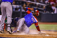 Jhonny Monell of Criollos de Caguas of Puerto Rico in a sweep at home in the third inning during the baseball game of the Caribbean Series against the Tomateros of Culiacan de Mexico at the Charros de Jalisco baseball stadium in Guadalajara, Mexico, Friday 2 Feb 2018. (AP Photo / Luis Gutierrez)<br /> <br /> <br /> Jhonny Monell de Criollos de Caguas de Puerto Rico se barre en home para anotar carrera en ll Segundo inning durante el encuentro del beisbol de la Serie del Caribe contra los Tomateros de Culiacan de Mexico en estadio de beisbol Charros de Jalisco en Guadalajara, M&eacute;xico,  viernes 2 feb 2018. (Foto AP / Luis Gutierrez)