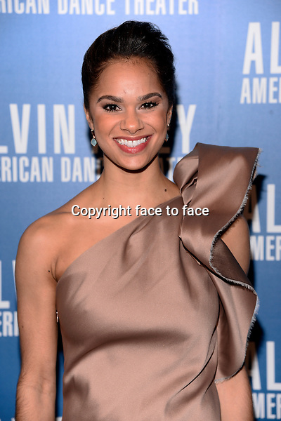 NEW YORK, NY - DECEMBER 04:Misty Copeland pictured at Alvin Ailey's Opening Night Gala at New York City Center, on December 4, 2013 in New York City. Credit: RTNPluvious/MediaPunch Inc.<br /> Credit: MediaPunch/face to face<br /> - Germany, Austria, Switzerland, Eastern Europe, Australia, UK, USA, Taiwan, Singapore, China, Malaysia, Thailand, Sweden, Estonia, Latvia and Lithuania rights only -
