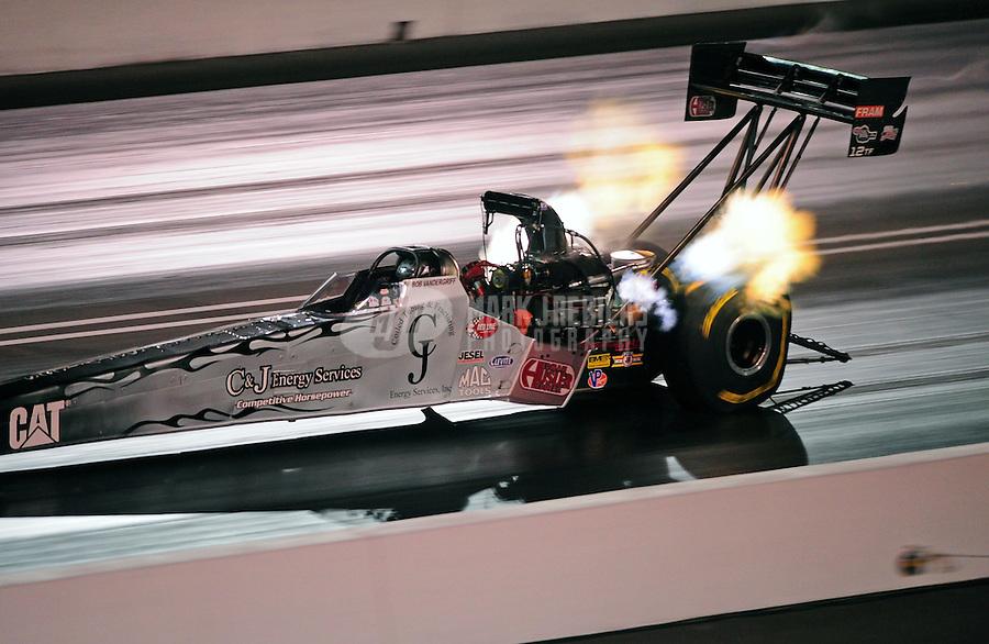 Jun. 17, 2011; Bristol, TN, USA: NHRA top fuel driver Bob Vandergriff Jr during qualifying for the Thunder Valley Nationals at Bristol Dragway. Mandatory Credit: Mark J. Rebilas-