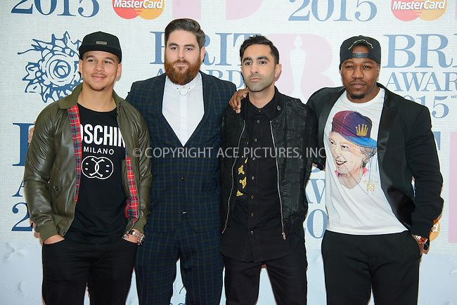 WWW.ACEPIXS.COM<br /> <br /> February 25 2015, London<br /> <br /> Rudimental arriving at the Brit awards 2015 at the O2 Arena on February 25 2015 in London<br /> <br /> By Line: Famous/ACE Pictures<br /> <br /> <br /> ACE Pictures, Inc.<br /> tel: 646 769 0430<br /> Email: info@acepixs.com<br /> www.acepixs.com